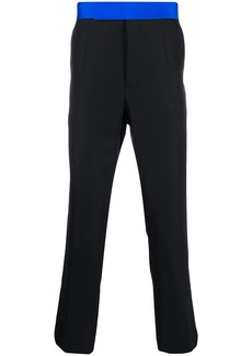 Haider Ackermann contrast waistband cropped trousers