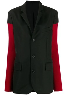 Haider Ackermann elongated contrasting-sleeves blazer
