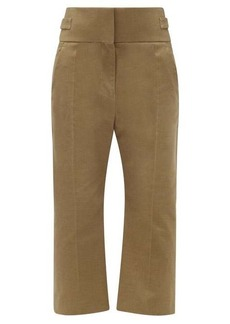 Haider Ackermann Beaumont high-rise cotton trousers