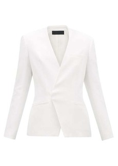 Haider Ackermann Collarless single-breasted twill blazer