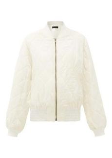 Haider Ackermann Diamond-quilted wool-twill bomber jacket