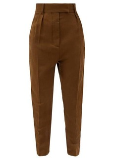 Haider Ackermann Flap pocket tapered wool-fleece trousers