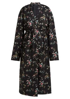 Haider Ackermann Freesia floral-print quilted single-breasted coat