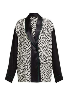 Haider Ackermann Greenfield chevron-stripe crepe jacket