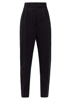 Haider Ackermann High-rise buckled-seat wool-twill trousers