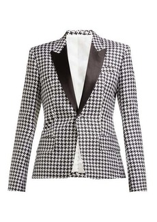Haider Ackermann Houndstooth-poplin single-breasted blazer