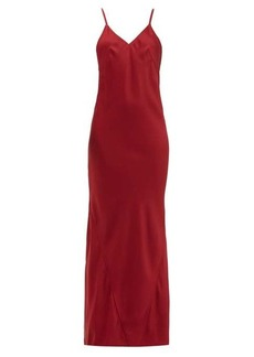 Haider Ackermann Kuiper V-neckline satin-crepe dress