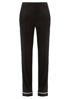 Haider Ackermann Piped-hem silk-satin trousers
