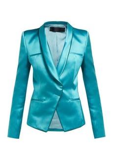 Haider Ackermann Single-breasted wrap duchess satin blazer