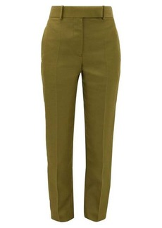 Haider Ackermann Tailored slim-leg canvas trousers