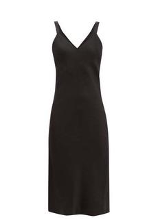 Haider Ackermann V-neckline satin-crepe midi dress