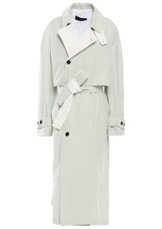 Haider Ackermann Woman Coated Cotton-blend Twill Trench Coat Grey Green