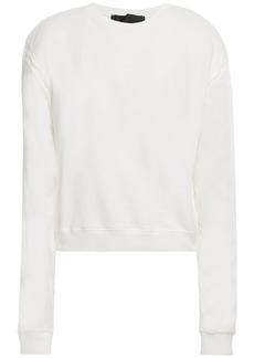 Haider Ackermann Woman French Cotton-terry And Twill Sweatshirt Ivory
