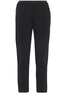 Haider Ackermann Woman Grosgrain-trimmed French Cotton-terry Track Pants Black