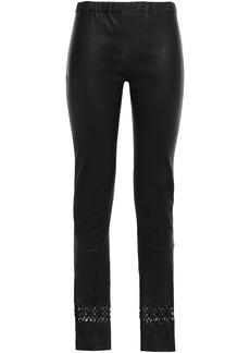 Haider Ackermann Woman Laser-cut Stretch-leather Leggings Black