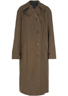 Haider Ackermann Woman Oversized Cotton-gabardine Trench Coat Army Green