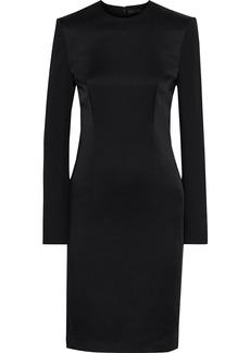 Haider Ackermann Woman Satin-paneled Crepe Dress Black