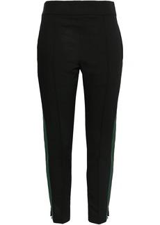 Haider Ackermann Woman Striped Wool-blend Tapered Pants Black