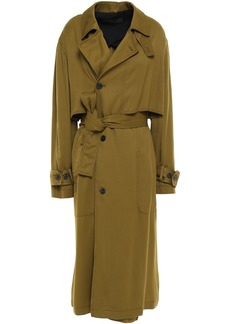 Haider Ackermann Woman Twill Trench Coat Army Green