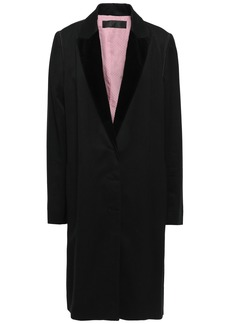 Haider Ackermann Woman Velvet-trimmed Cotton-blend Twill Coat Black