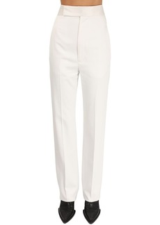 Haider Ackermann High Waist Viscose Slim Leg Pants