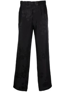 Haider Ackermann jacquard belted trousers