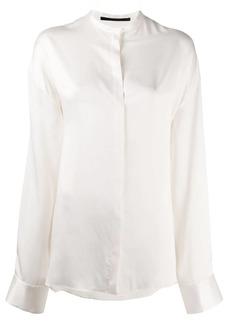 Haider Ackermann Mandarin collar silk shirt