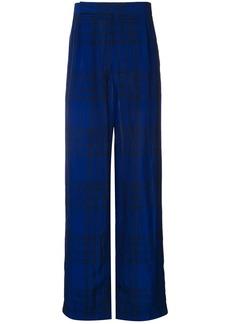 Haider Ackermann Montauk tartan print trousers