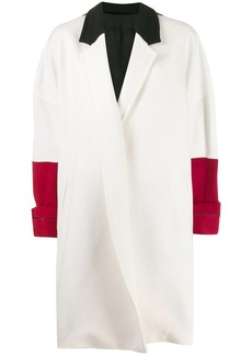 Haider Ackermann oversized colour block coat