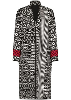 Haider Ackermann oversized mixed pattern long coat