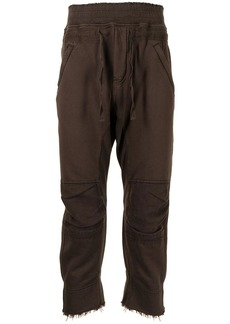 Haider Ackermann panelled cropped track pants