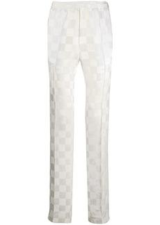 Haider Ackermann piped seam checkered trousers
