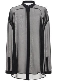 Haider Ackermann Silk Sheer Muslin Oversized Shirt