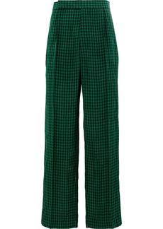 Haider Ackermann straight check trousers