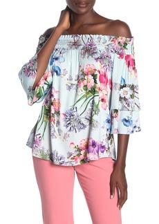 Hale Bob Aislinn Floral Off-the-Shoulder Top