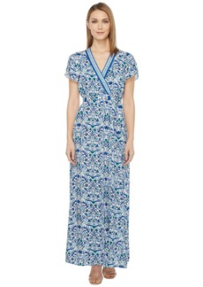 Hale Bob All Mixed Up Rayon Woven Maxi Wrap Dress