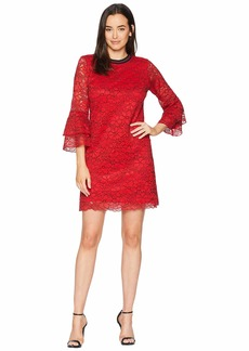 Hale Bob Cherry Bomb Floral Corded Lace Antonine Dress