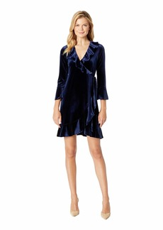 Hale Bob Eternal Glow Stretch Velvet Bibiana Dress