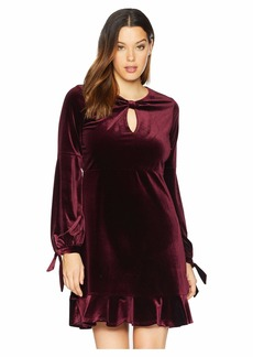 Hale Bob Eternal Glow Stretch Velvet Hilda Dress