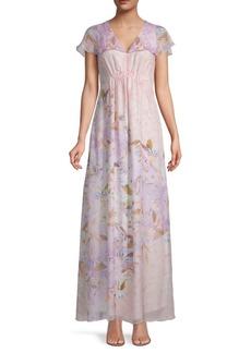 Hale Bob Floral-Print Maxi Dress