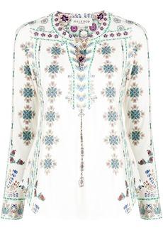 Hale Bob floral print V-neck blouse