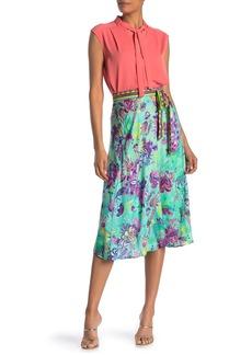 Hale Bob Floral Print Wrap Skirt