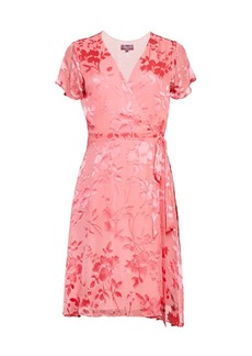 Hale Bob Floral Wrap Short-Sleeve Dress