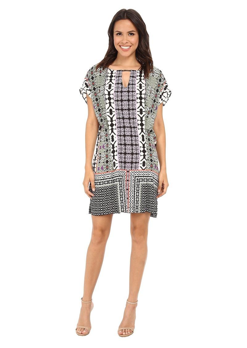 Hale Bob Boho Chic Flutter Sleeve Dress