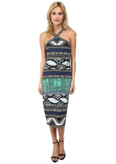 Hale Bob Desert Dune Crisscross Front Dress