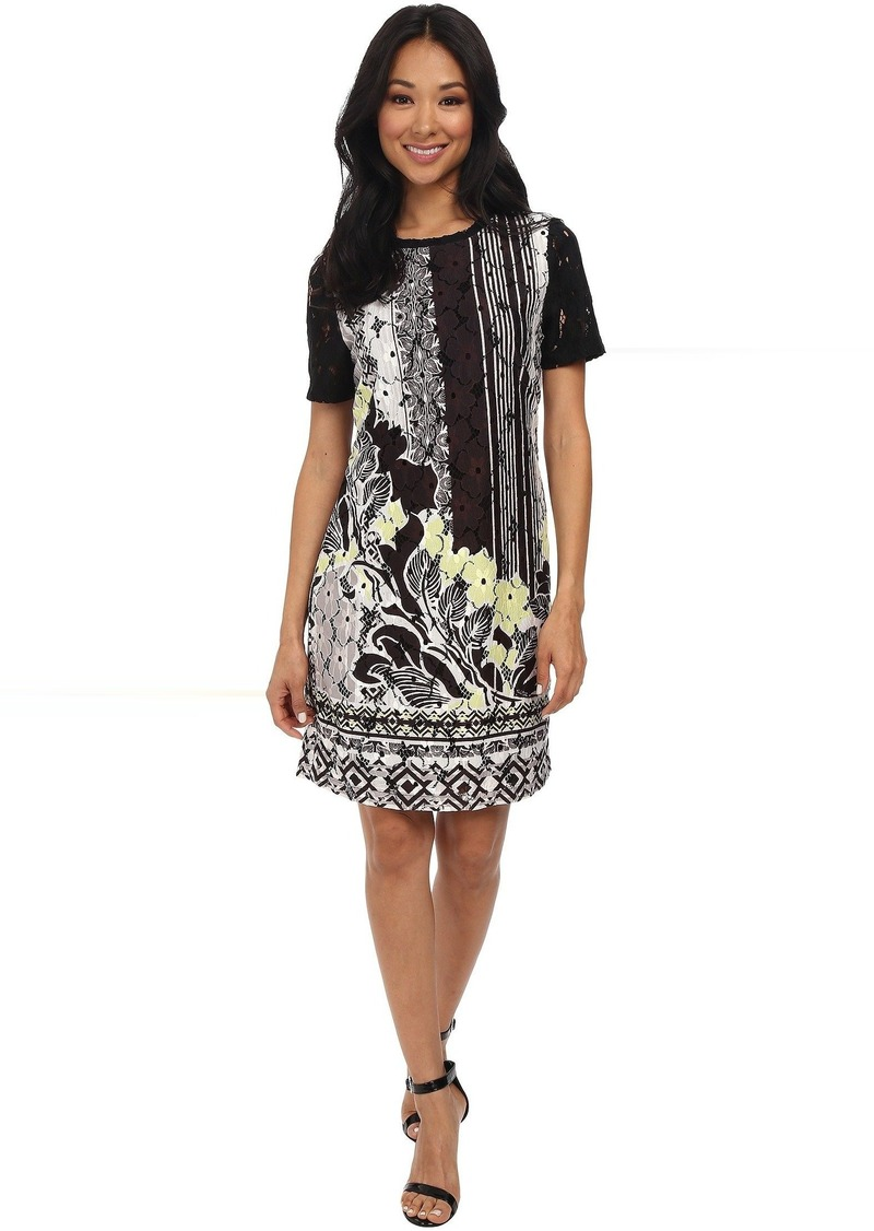 Hale Bob Downtown Floral Lace Printed Dress