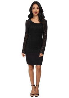 Hale Bob Exotic Lines Jersey Stretch Jacquard Dress