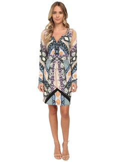 Hale Bob Garden Of Eden Long Sleeve Dress