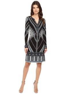 Hale Bob In Haute Pursuit Micro Fiber Jersey Dress