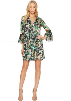 Hale Bob Kyoto in Bloom Stretch Satin Woven Dress
